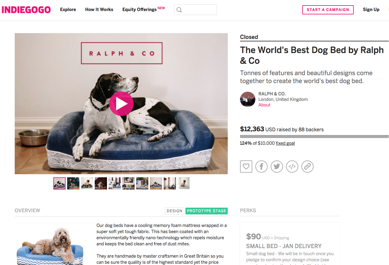 crowdfund campaign page