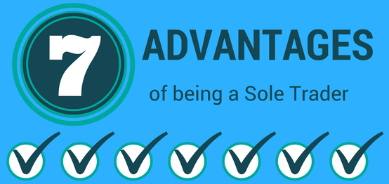 Advanatges of running a business as a sole trader