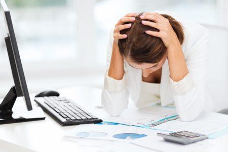 stressed female employee