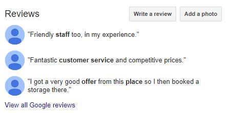 Encourage reviews on Google My Business