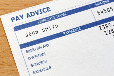 image of employee payslip
