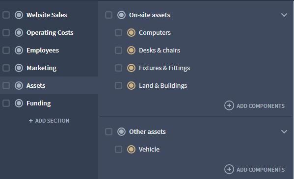 estimating asset purchase for cash flow