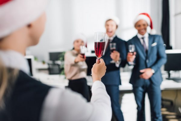 talk to staff at christmas party